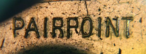 Pairpoint Base Mark on Bronze
